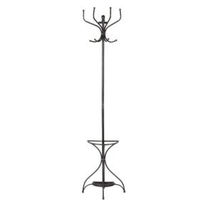 Wall mounted coat umbrella stand iron