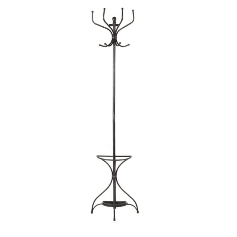 Wall mounted coat umbrella stand iron
