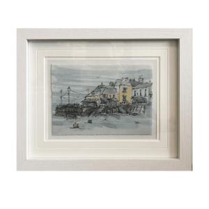 Fowey framed art canva