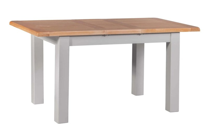 DIASMEXT diamond painted small extending dining table showing 1 leaf V1