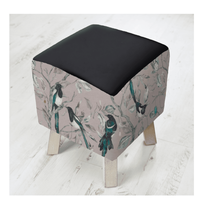 FS200023 voyage maison COLLECTOR BLUSH TOBY FOOTSTOOL