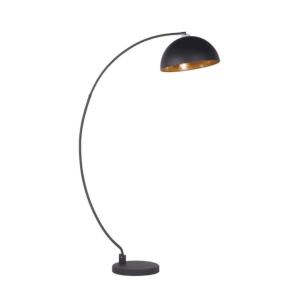 TG020 Black curved floor lamp
