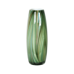 Waves of green tall vase