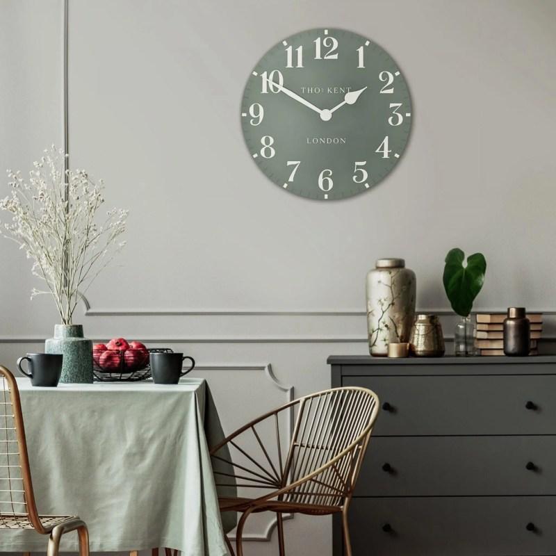 Thomas Kent 20inch wall clock seagrass room shot