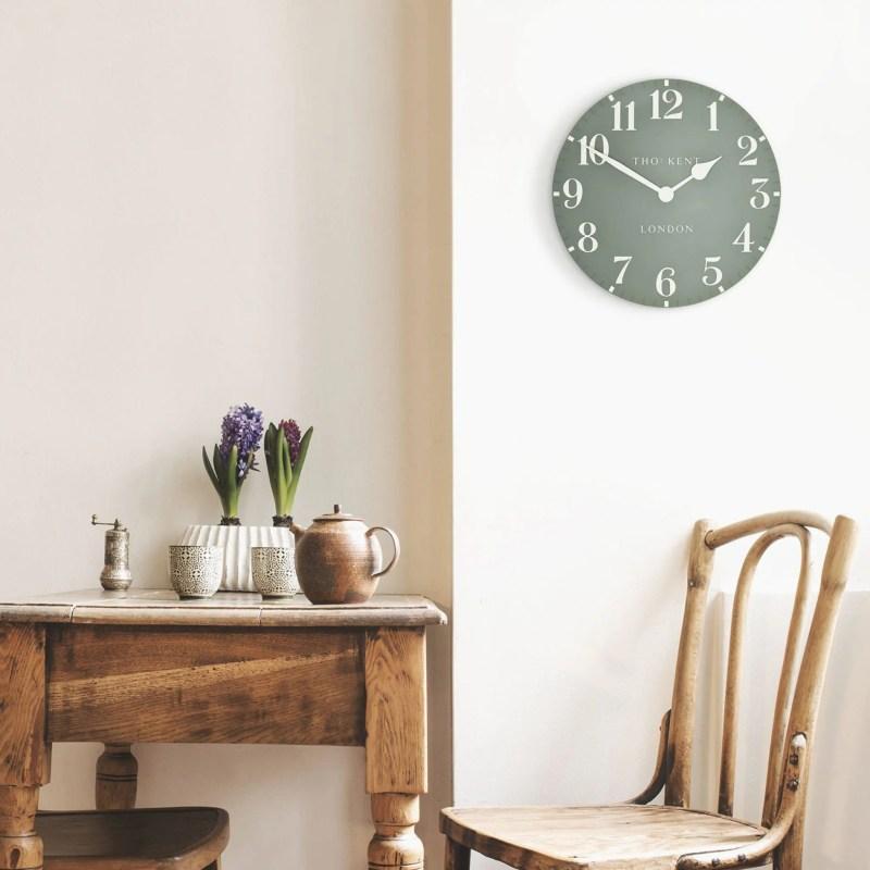 Thomas kent 12inc wall clock seagrass