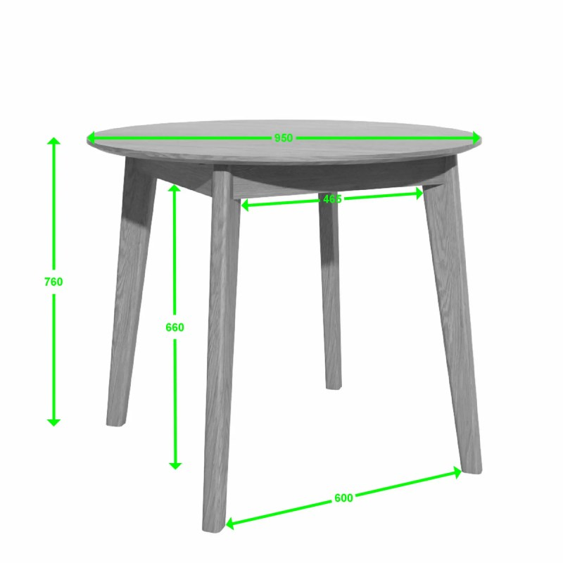 scandic round table 950 measures