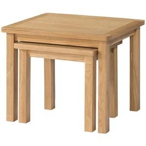 BFO044 Burford oak nest of tables