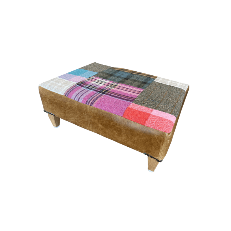 Kensington pull out footstool patchwork