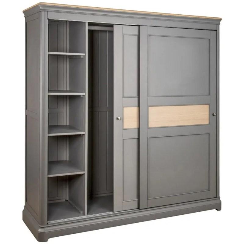 BLA34 V1 _sliding_door_double_wardrobe_with_shelves