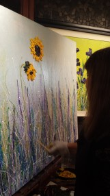 Gloria Lee live painting