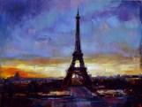 "Original oil painting, ""Beautiful Paris"" by Michael Flohr"