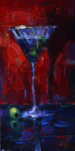 """Original oil painting, """"Extra Olives"""", by Michael Flohr"""