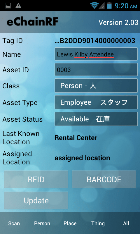 Add New Assets or Update Existing Assets