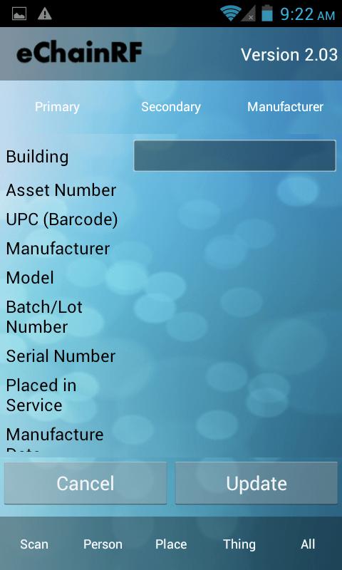 Asset Manufacturer Information