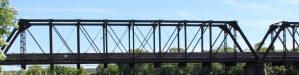 Phoenix Park bridge spanning the Chippewa River
