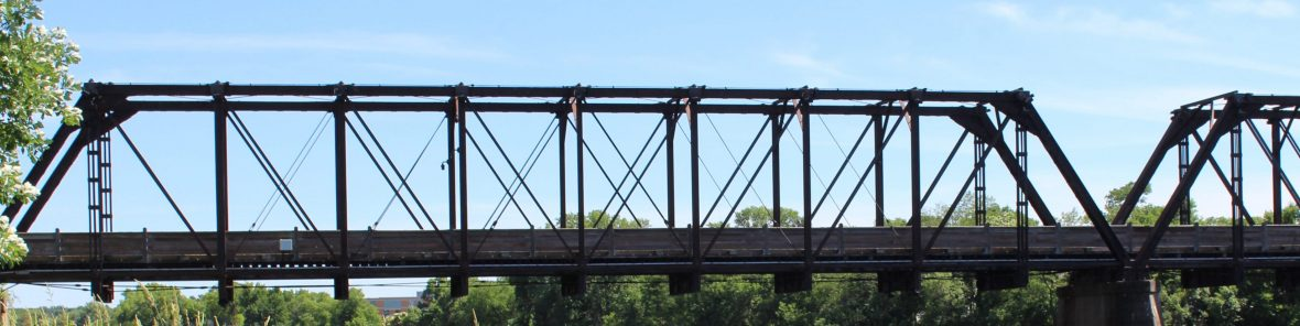 Phoenix Park bridge spanning the Chippewa River