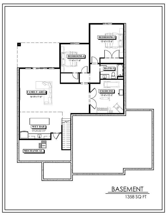 Echelon Homes - Tyler Plan - Basement