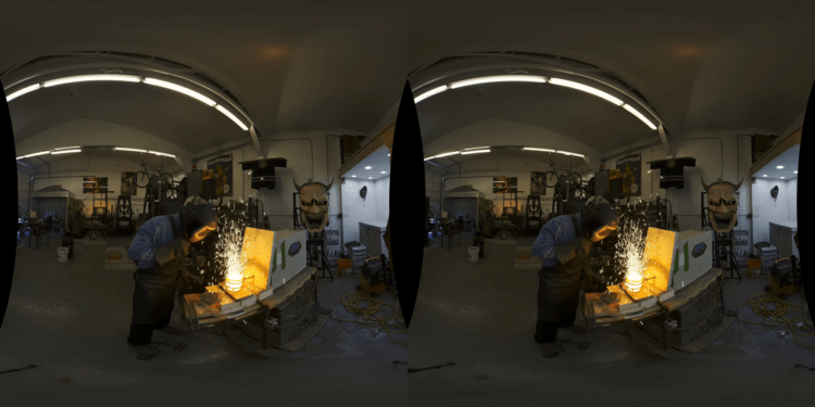 Peak quality 3D 180 immersive video in Oculus Go and Gear VR