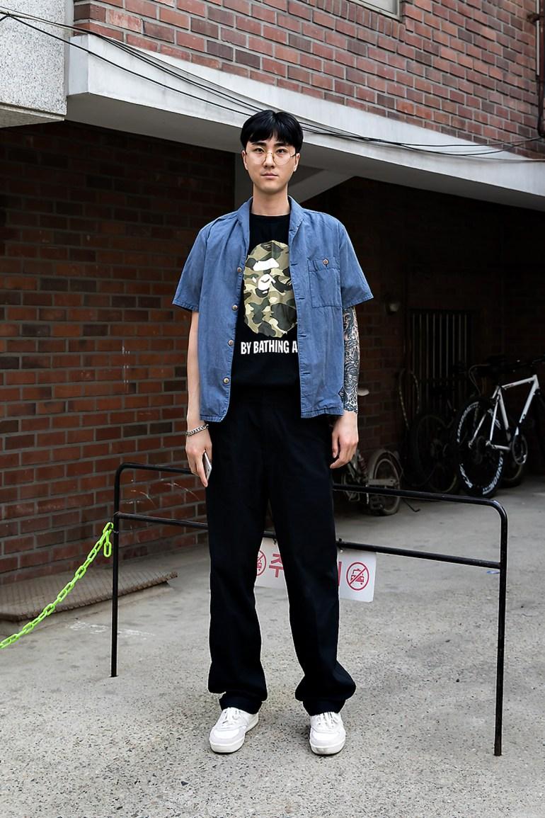 Lee Yusung, Street Fashion 2017 in Seoul