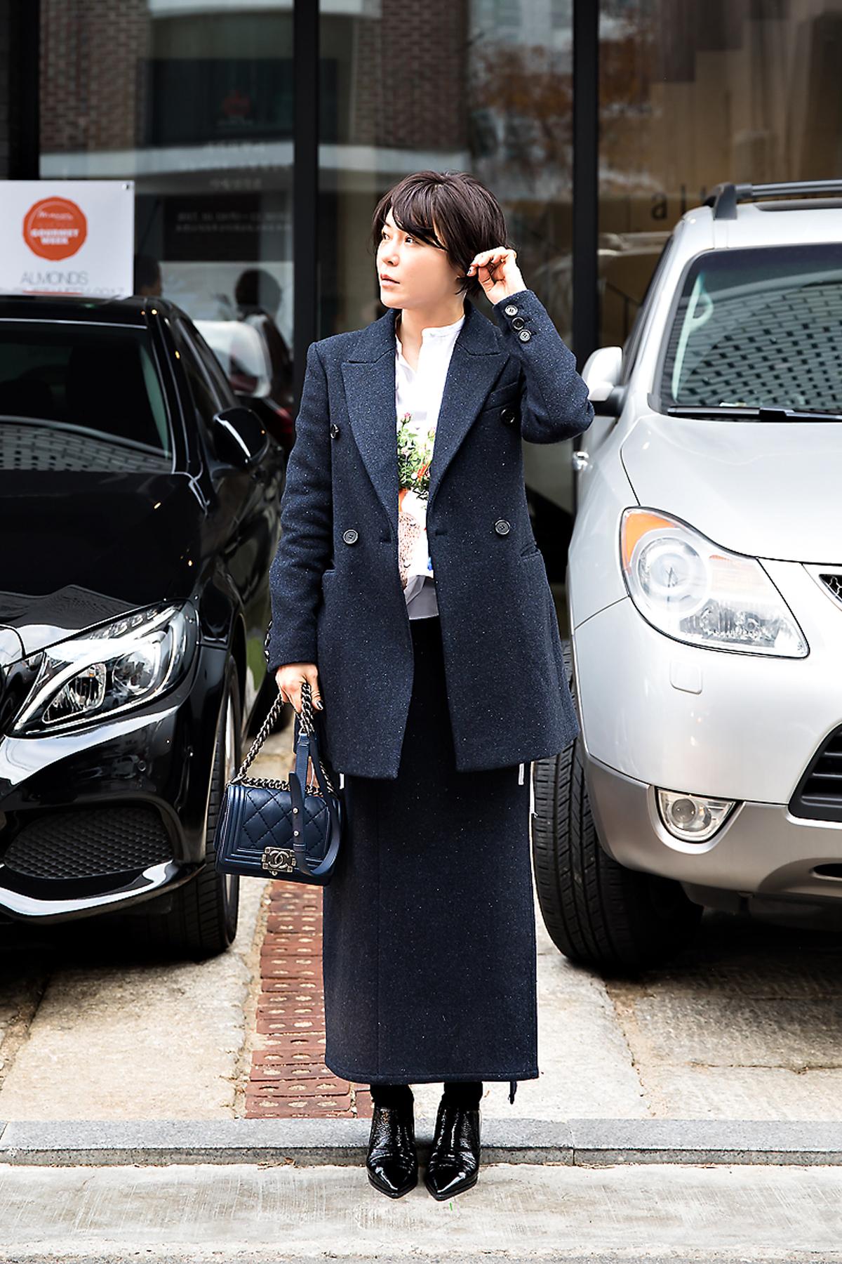 Kang Heejae, Street style women winter 2017 inseoul