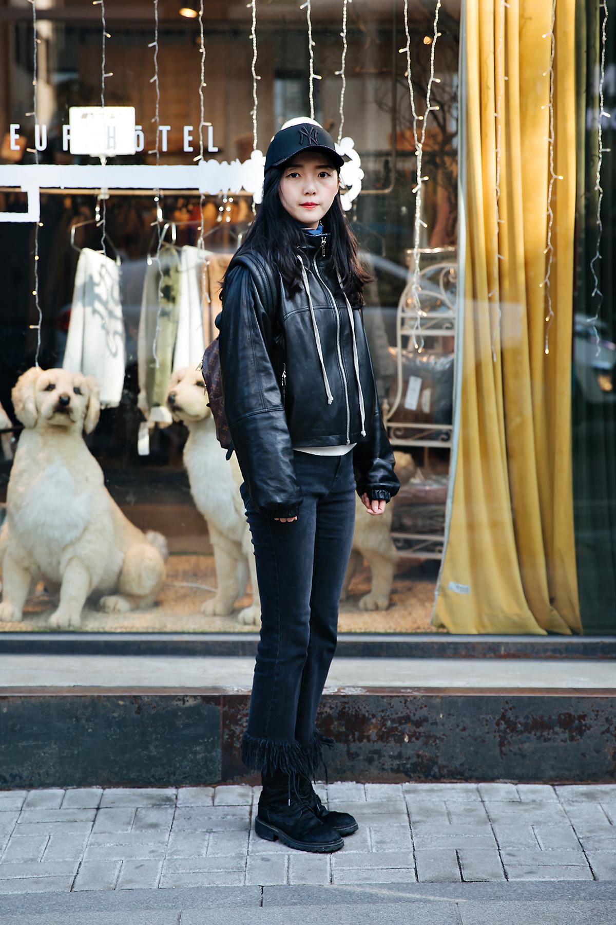 Lulu, Street style women winter 2017-2018 inseoul