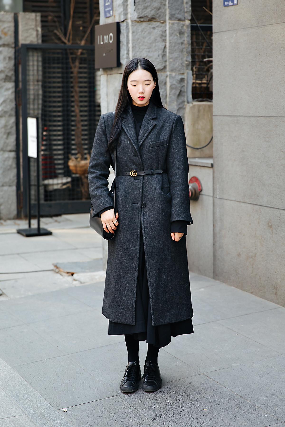 Oh Seojin, Street style women winter 2017-2018 inseoul