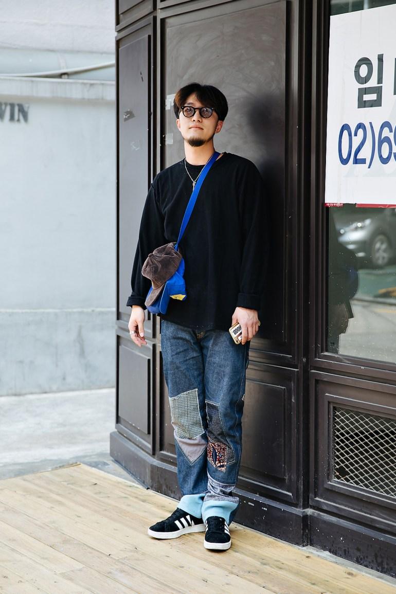 Kang Dongwan, Street style men spring 2018 inseoul