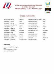 futsal selection mondial u gallouze