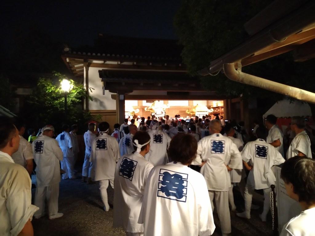 八坂神社 神輿納