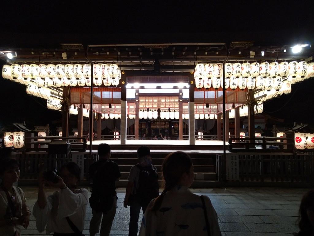 祇園祭り 舞殿