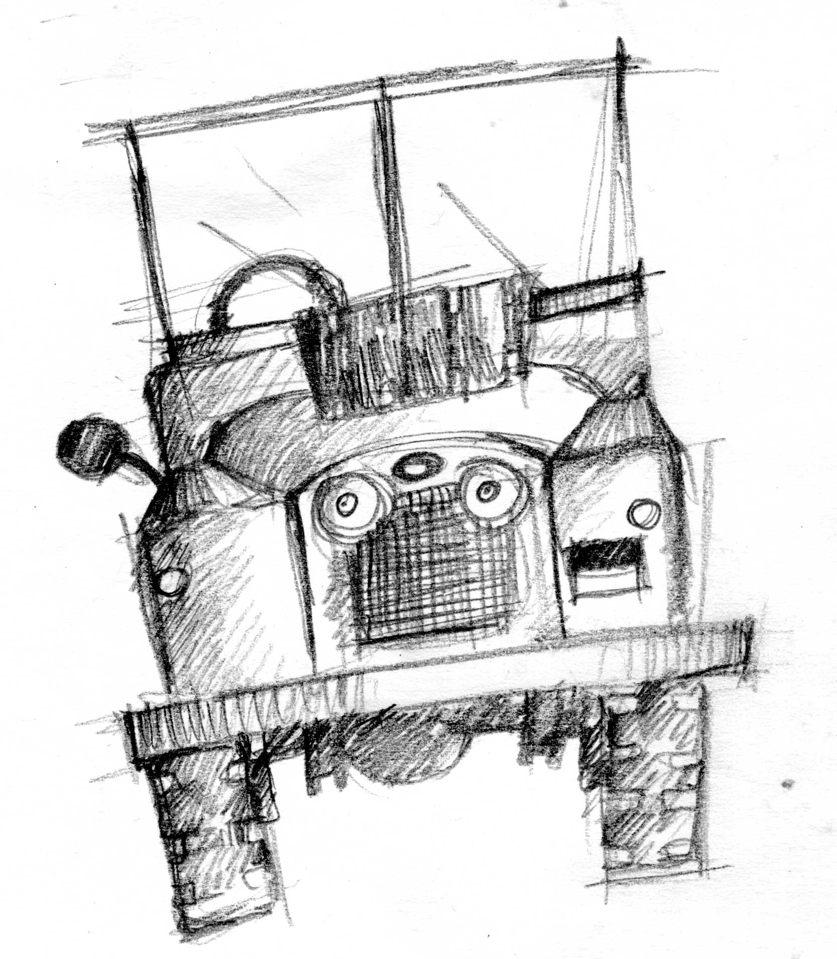 Land Rover Series I Sketch