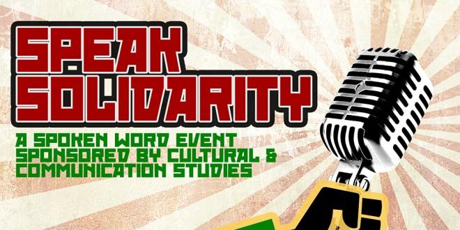 Coming Soon: Speak Solidarity