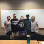 Emma Rhodes, Noah Terry, Sarah Gunter, Ben Sikes, and Alex Graham at the Pro Deo club