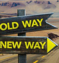 old way x new way crossroad [ 1536 x 1024 Pixel ]