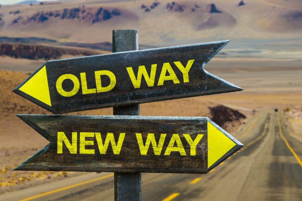 medium resolution of old way x new way crossroad