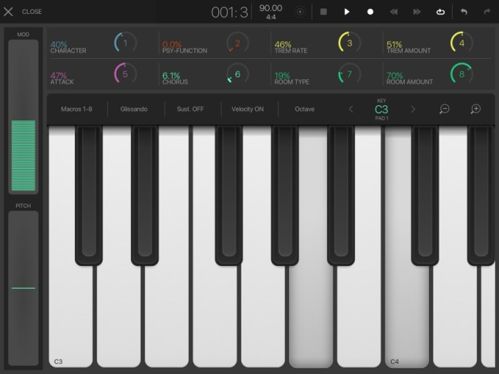 BeatMaker3 - Fullscreen Keyboard
