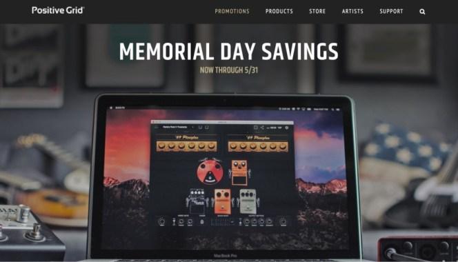 Positive Grid Memorial Day Savings