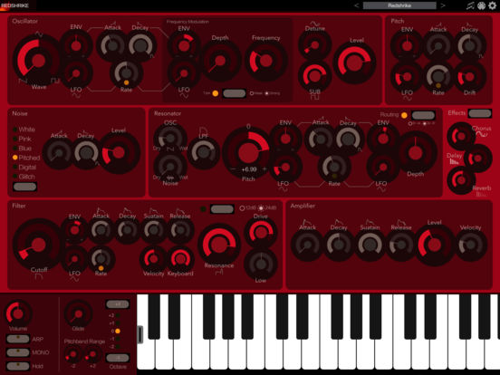 iceGear Instruments - Redshrike Synthesizer