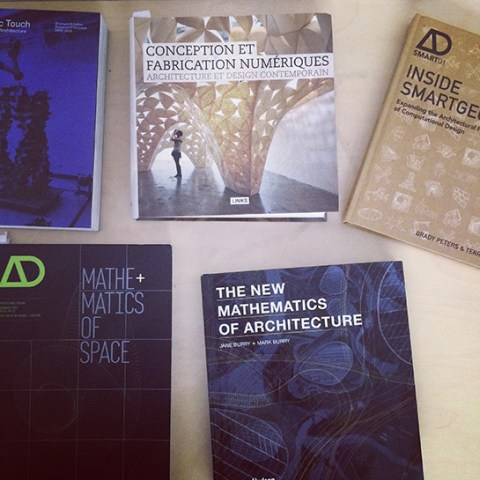 Selection of books about geometry, mathematics and digital fabrication