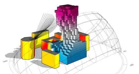 voxel computational morphogenesis in urban context