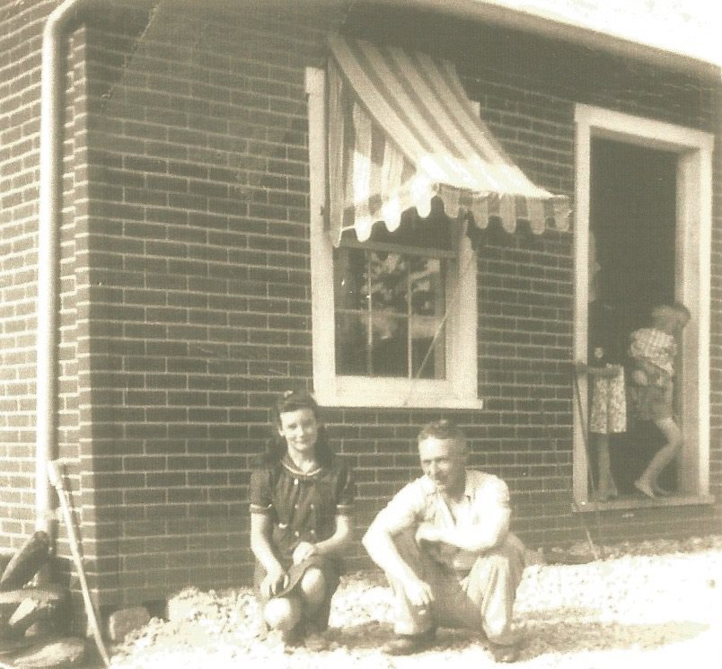 Betty and Don Custer in Front of Custer Store