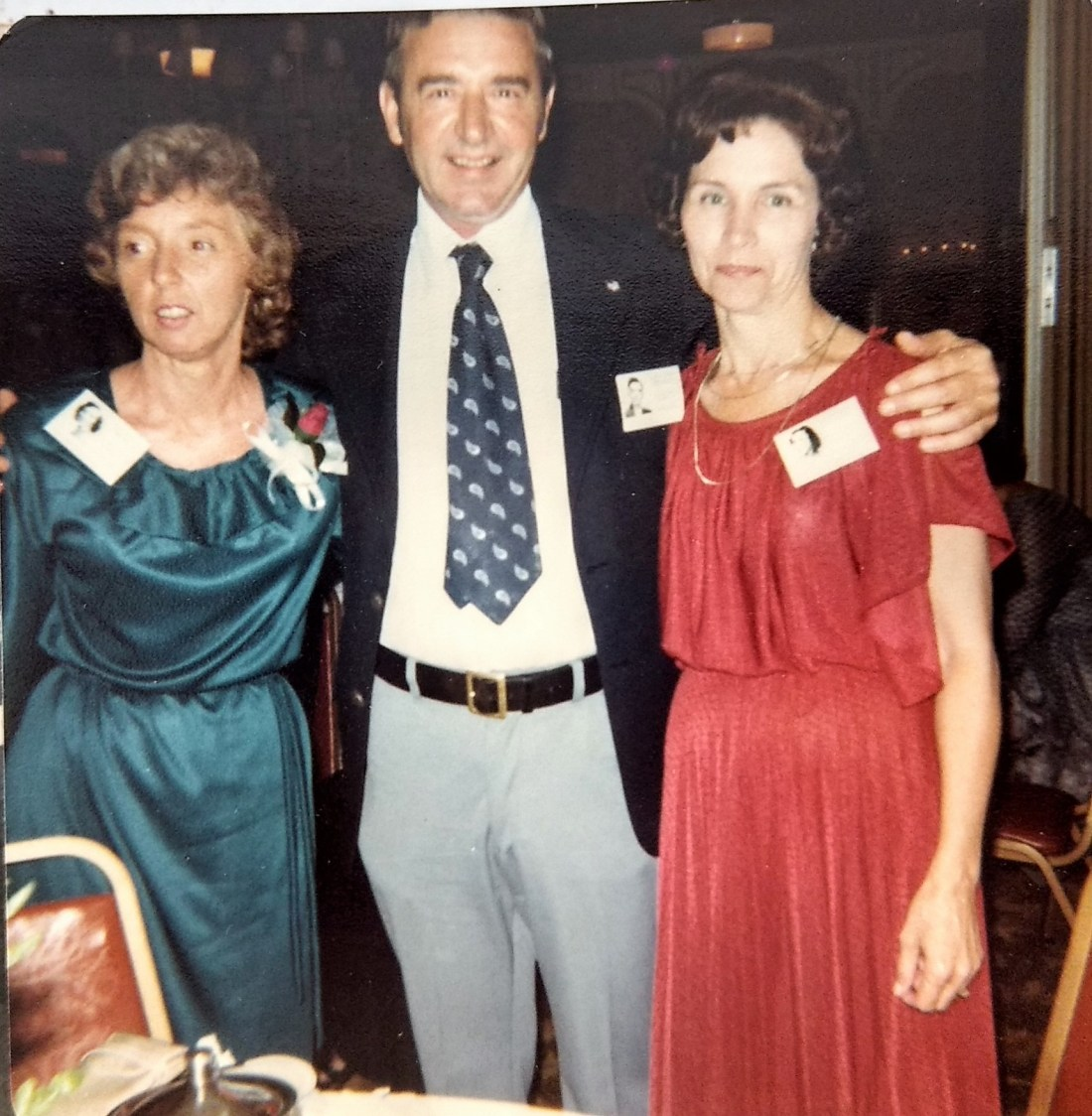 Helen, Billy Garman and Kathleen Taylor at High School Reunion