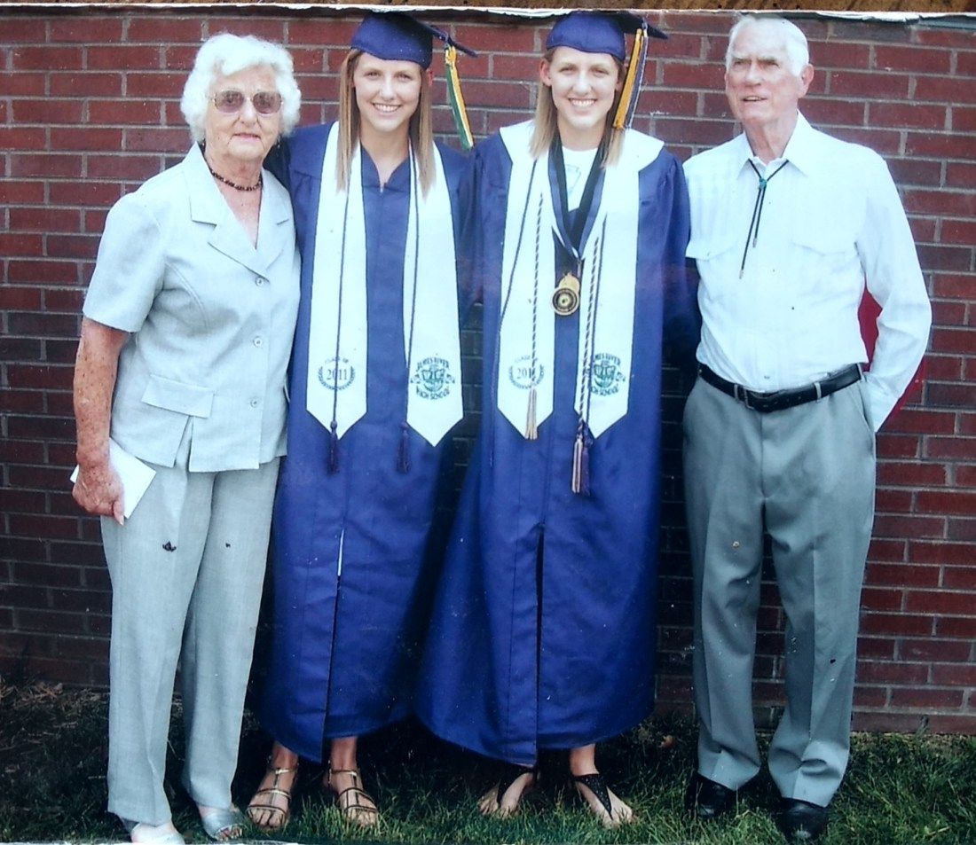 Christine, twin grandaughters, Ezra