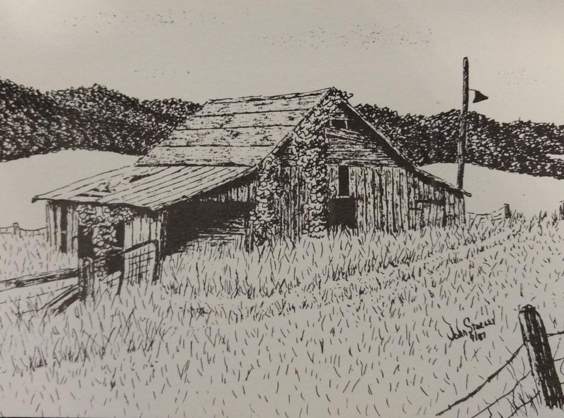 Barn on Andrews FarmArtist Johnny Starkey