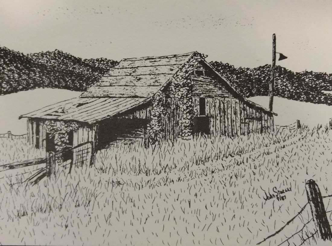 Barn on Andrews FarmArtist Johnny Starkey