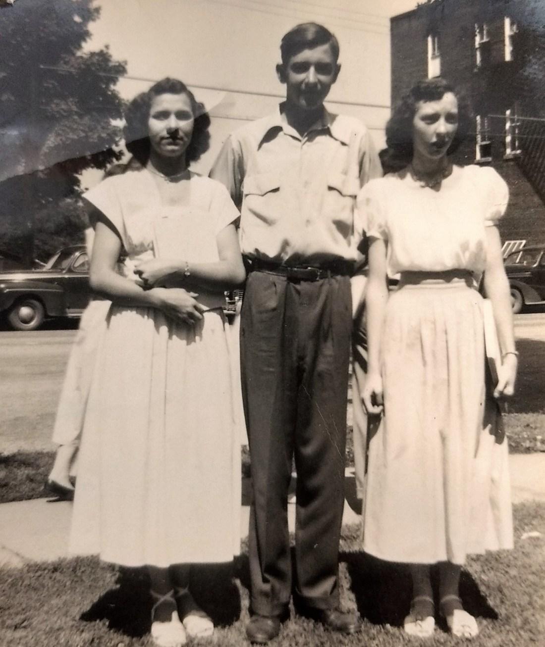 Kathleen Taylor, Billy Garman and Helen Shepherd last day of High School