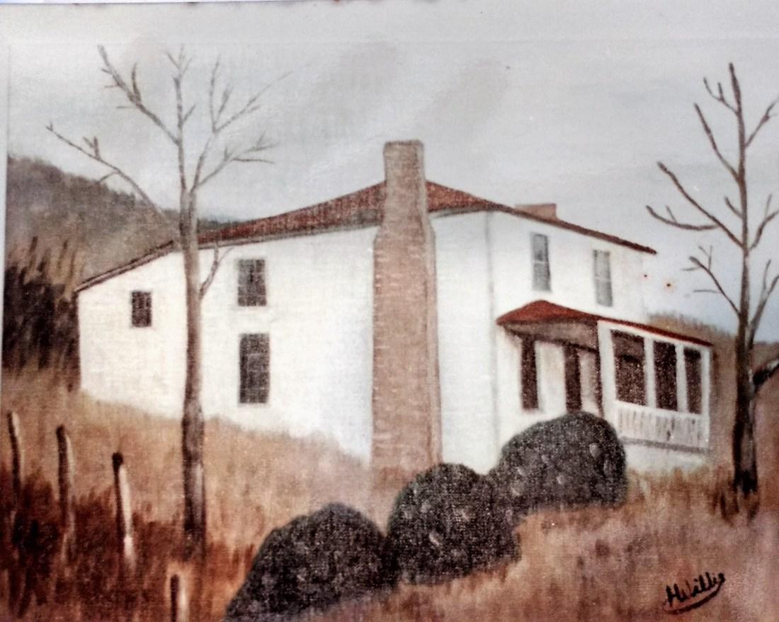 Claude and Carra Shepherds house on Andrews FarmArtist-Helen Shepherd
