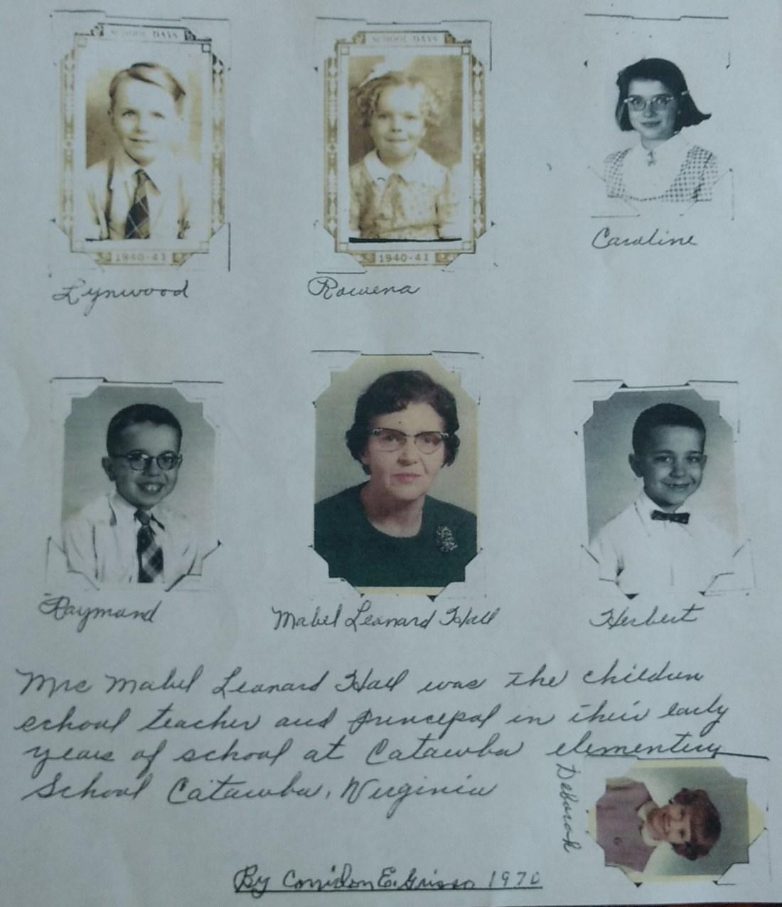 Lynwood Grisso, Rowena Grisso, Caroline Grisso, Raymond Grisso, Mabel Hall, Herbert Grisso