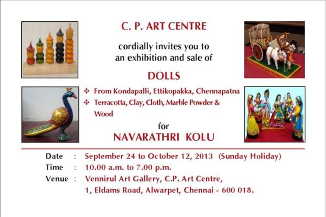 sept 24 2013Navarathri Kolu Exhibition - Invitation 2013 6X4