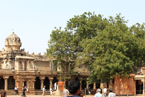 A view of the Brihadeshwarer Temple